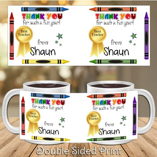 Personalised Thank You Teacher Gift Mug N24